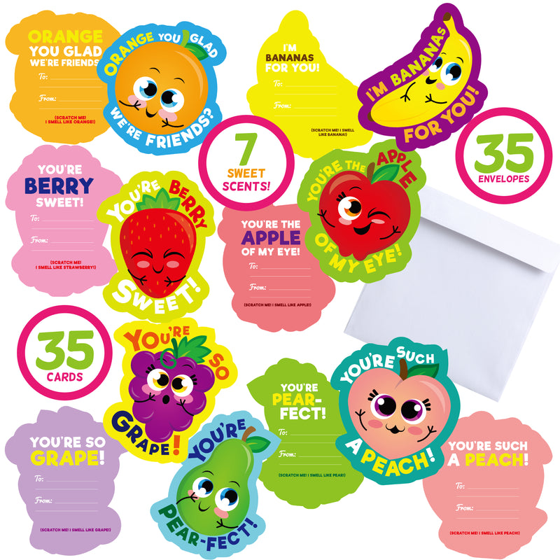 35 PIECES VALENTINES DAY SCRATCH AND SNIFF CARDS