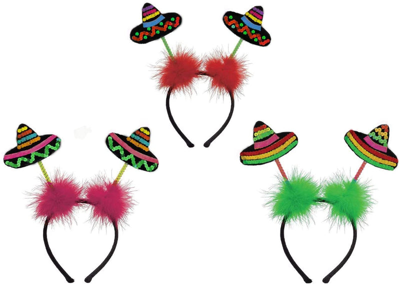3 PIECE CINCO DE MAYO FIESTA SOMBRERO HEADBOPPER