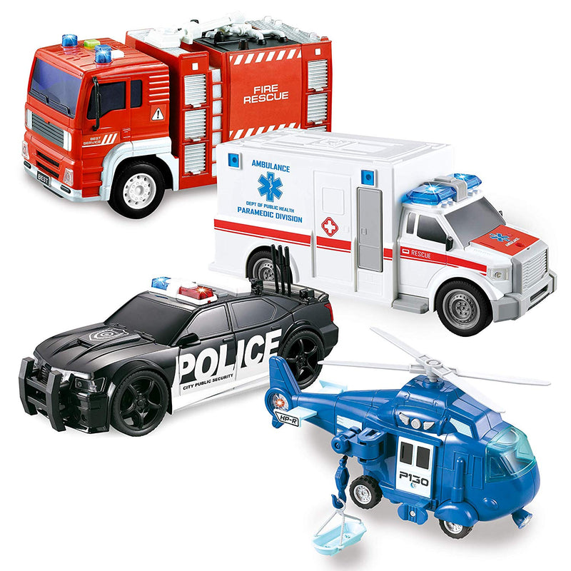 Friction Powered City Hero Play Set