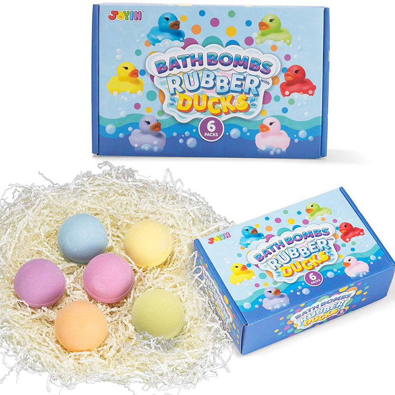Bath Bombs for kids with Rubber Ducks Toy