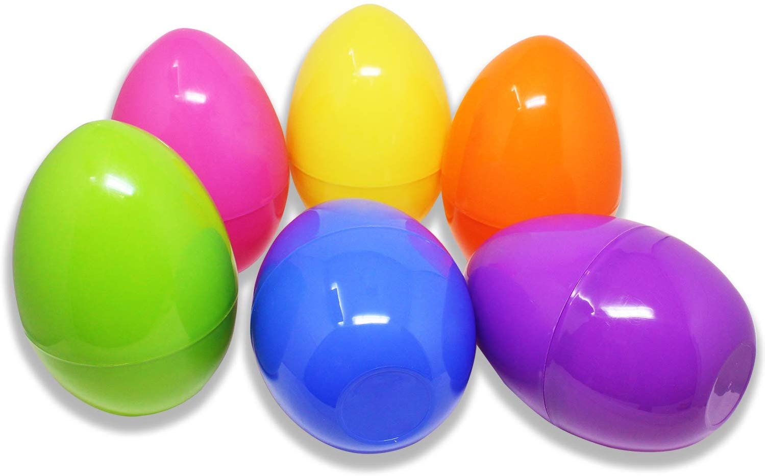 JOYIN 6 Pcs Colorful 10 inches Easter Eggs