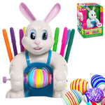 Klever Kits Motorized Bunny Easter Egg Decorator Kit with 10 Colorful Non-Toxic Markers