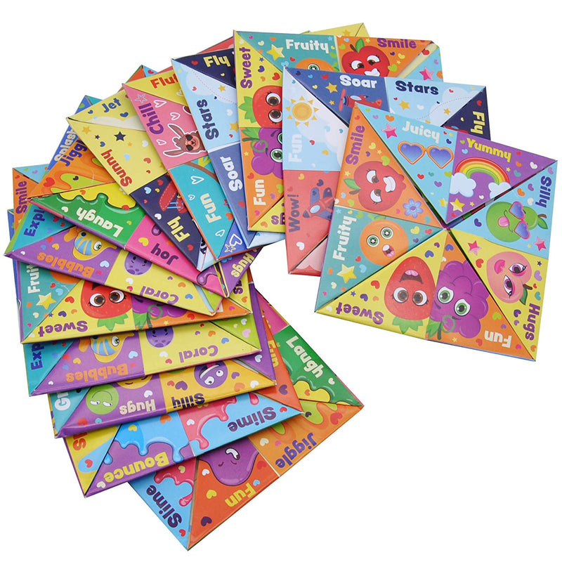 42 Pcs Valentines Day Cootie Catcher Cards