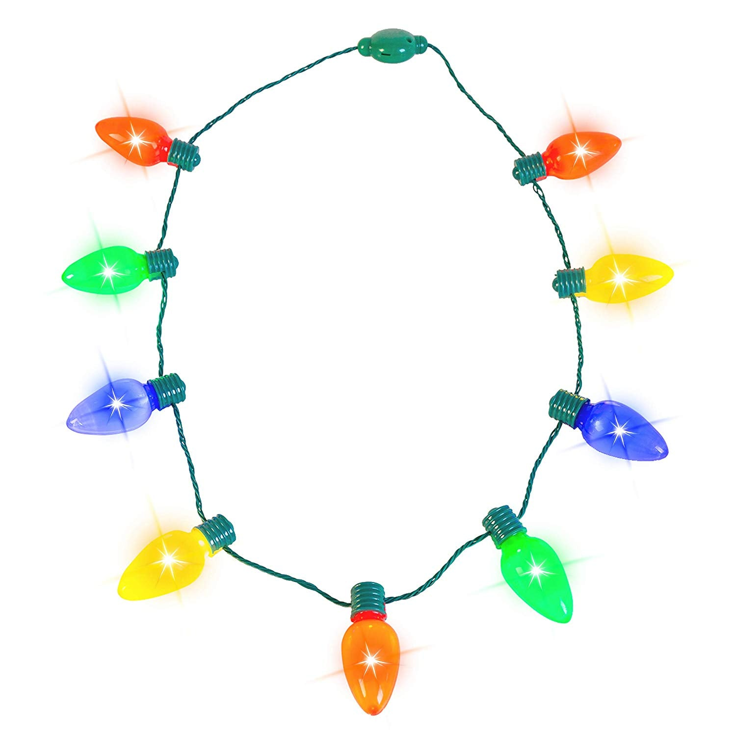 12 Piece Christmas Light Up Necklaces