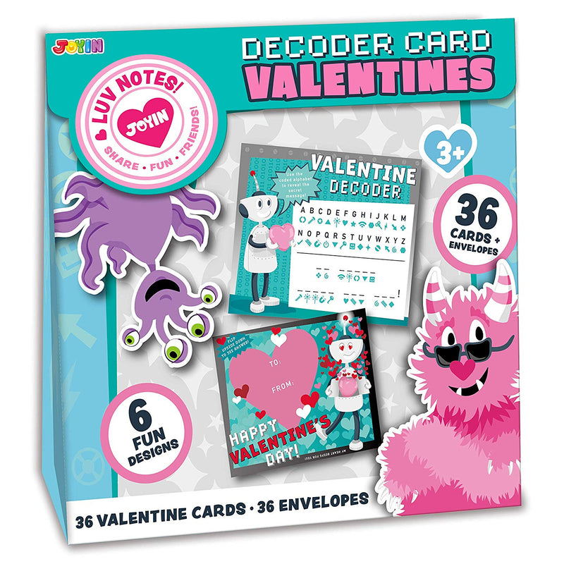 Valentine Gift Cards with Decoding Games