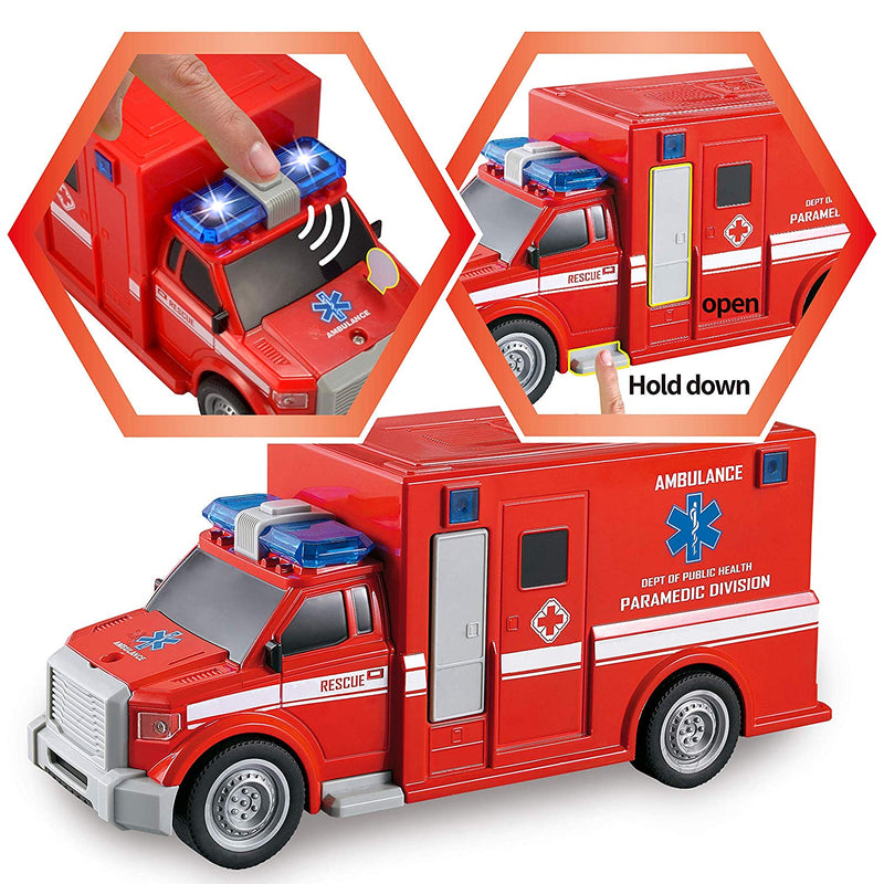 3 in 1 Fire Rescue Truck Car Set