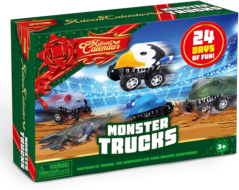 2020 Christmas Advent Calendar with Monster Truck Toys Set