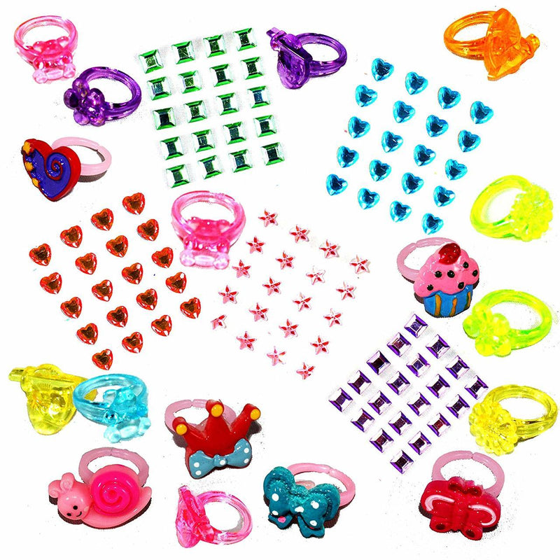 Girl's Princess Jewelry Toys, 65-Piece Set