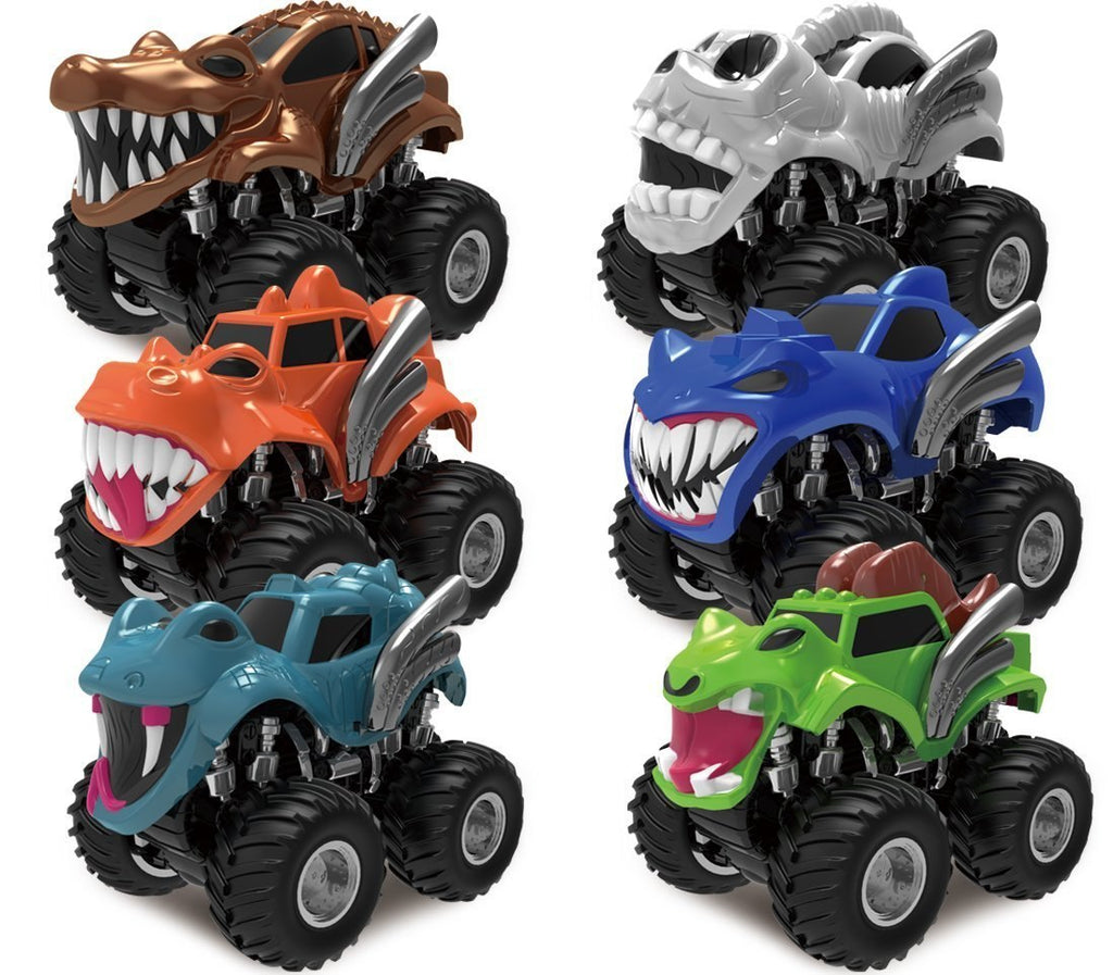 Friction-Powered Monster Vehicles, Set of 6