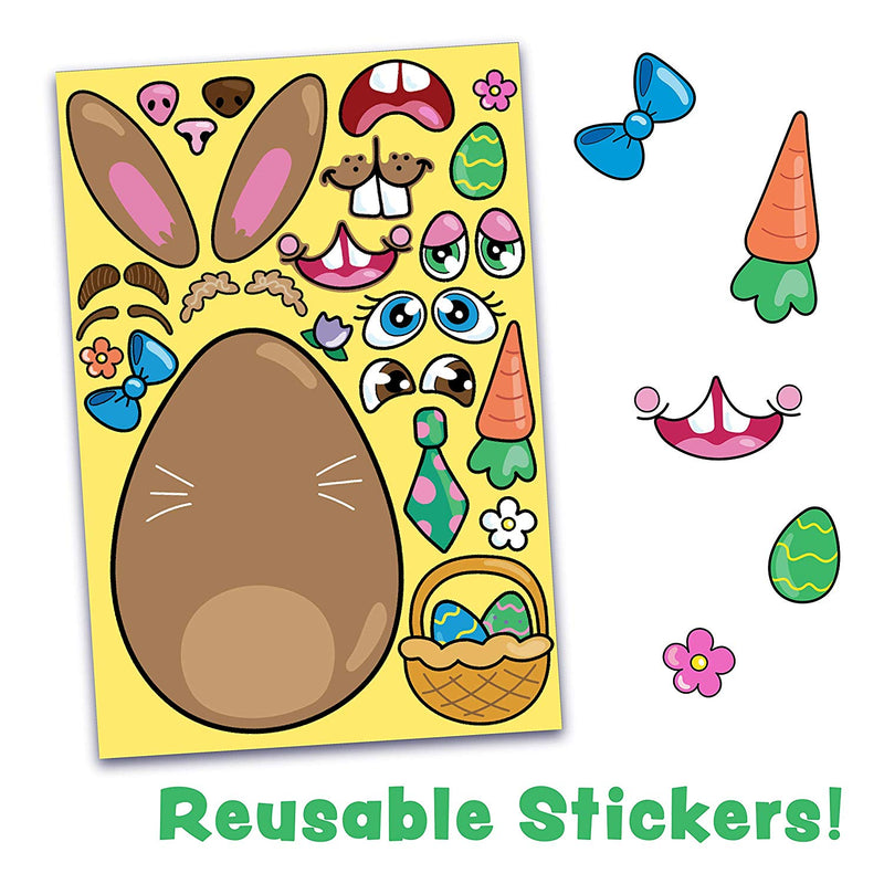 24 Pcs Mix and Match Make-a-Face Animal Stickers