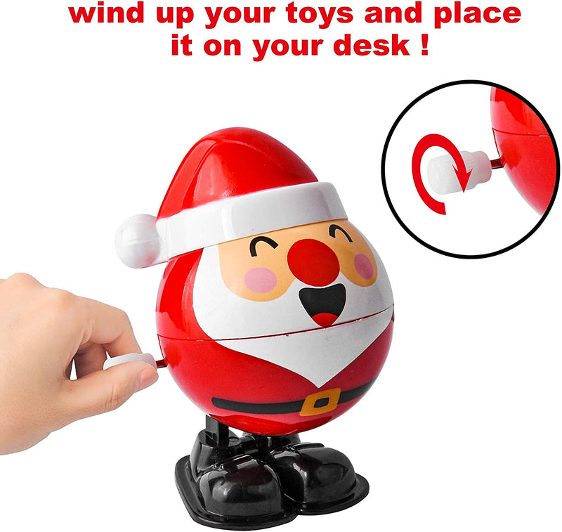 18 Pack Christmas Wind Up Toy