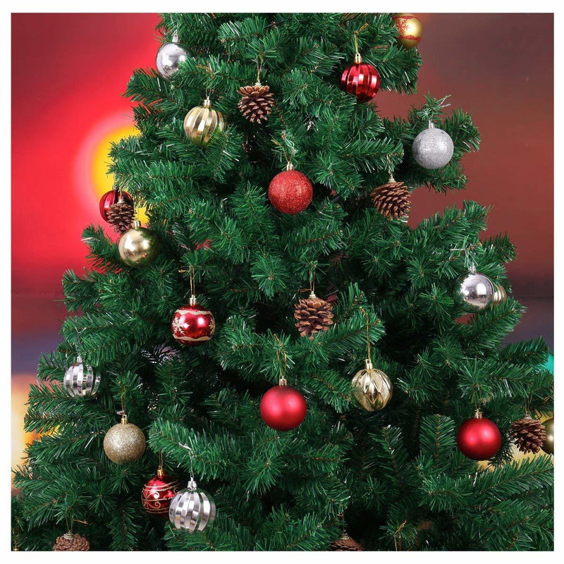 "Red, Gold, & Silver 2.5"" Ball Ornaments, 36-Pack"