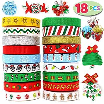 Satin Ribbon Assortment, 18-Pack