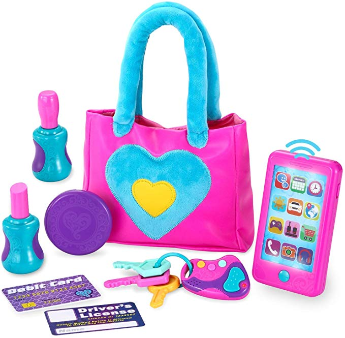 Play-Act My First Purse Pretend Play Purse Toy Set for Little Girls