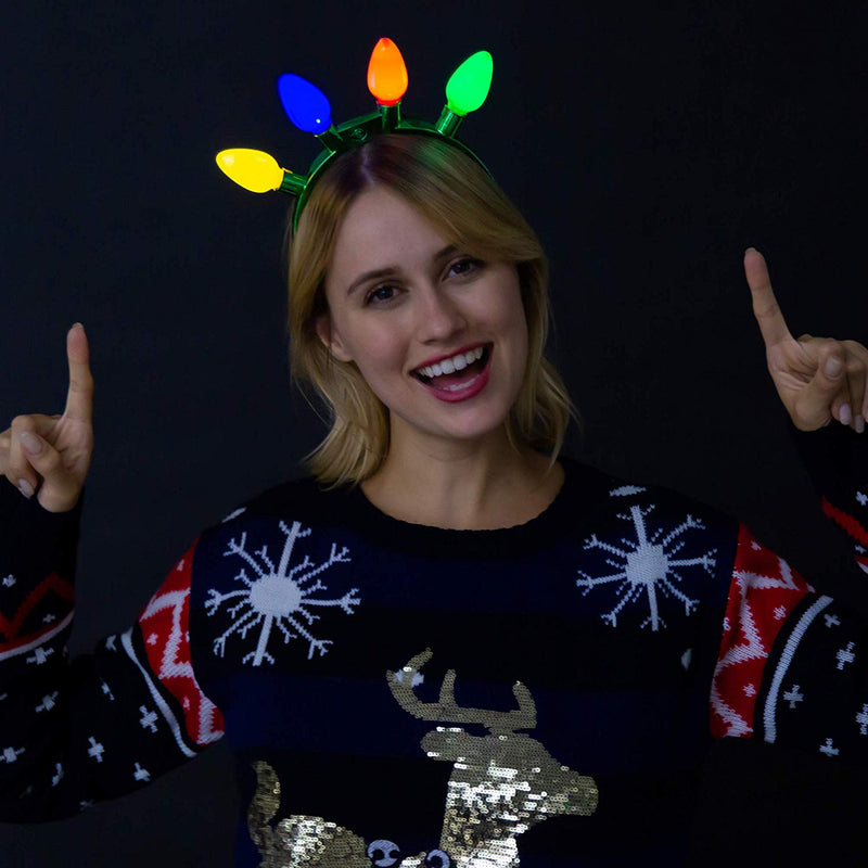 6 Piece Christmas LED Headband