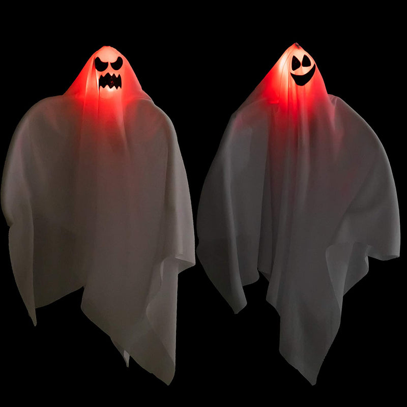 2 Pack Light-Up Halloween Hanging Ghost