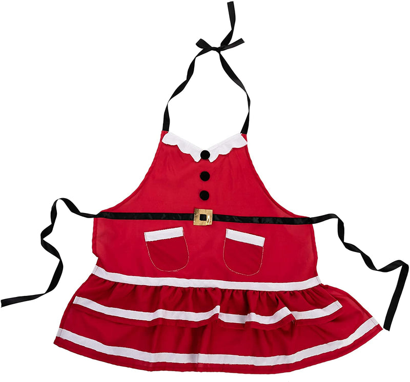 6 PCS Santa Lady Apron Kitchen Linens