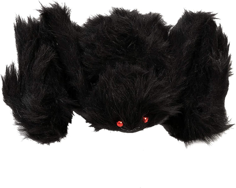 6 Pack Halloween Black Spider Set