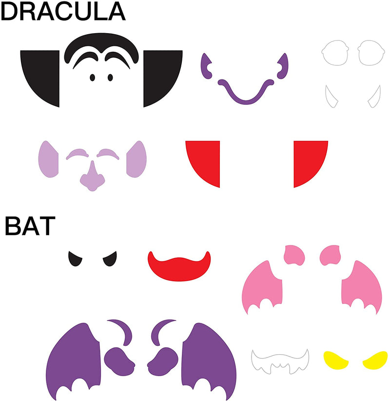 18 PCS Craft Halloween Foam Stickers