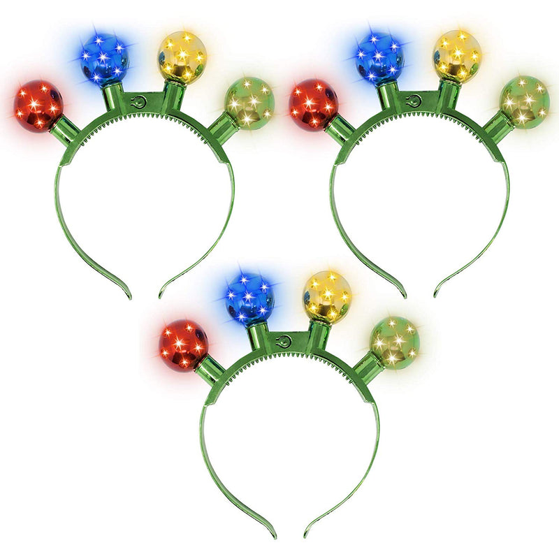 3 Piece Christmas Disco LED Headband