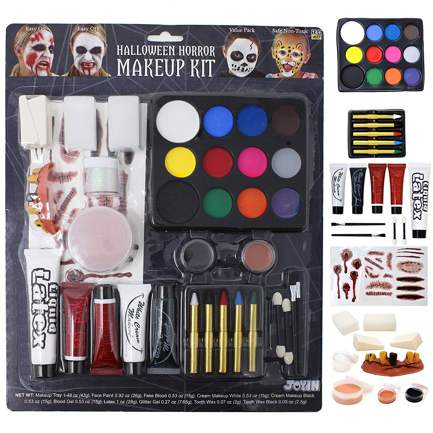 36 Piece Halloween Makeup Set