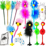 Deluxe Feather Boa Marabou Pens, 12-Pack