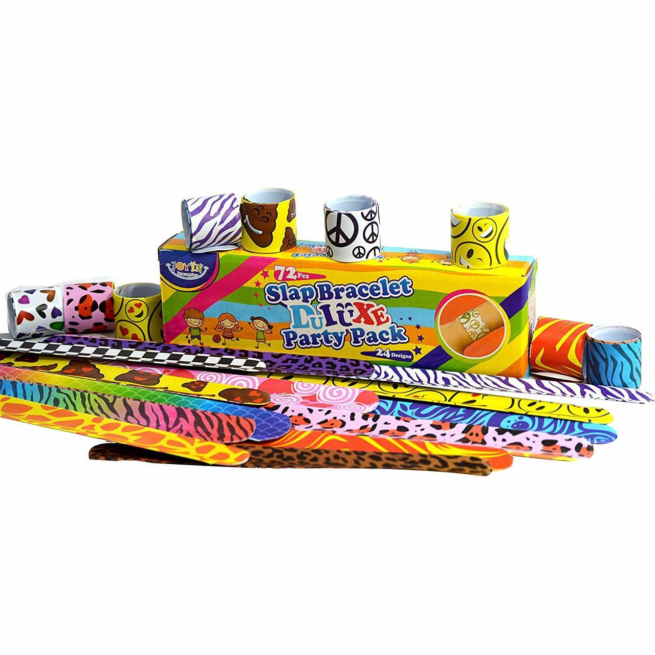 Slap Band Slap Bracelets, 72-Pack