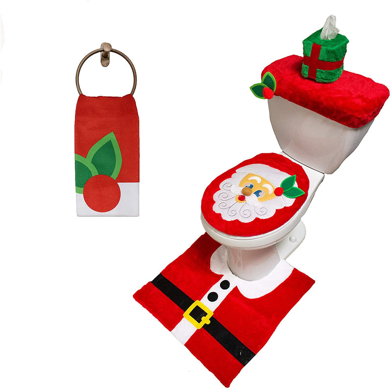 5 Pieces Santa Claus Toilet Cover