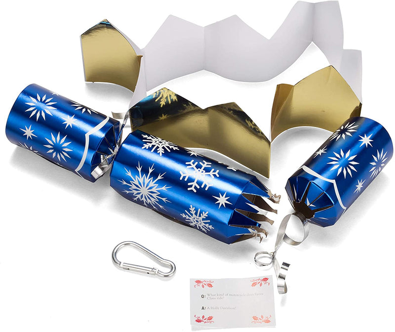"10"" Christmas No Snap Party Favor (Blue & White)"