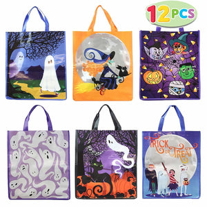 Halloween Trick or Treat Tote Bags, 12-Pack