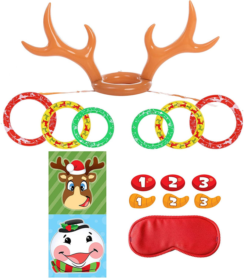 Inflatable Antlers and Pin the Nose set