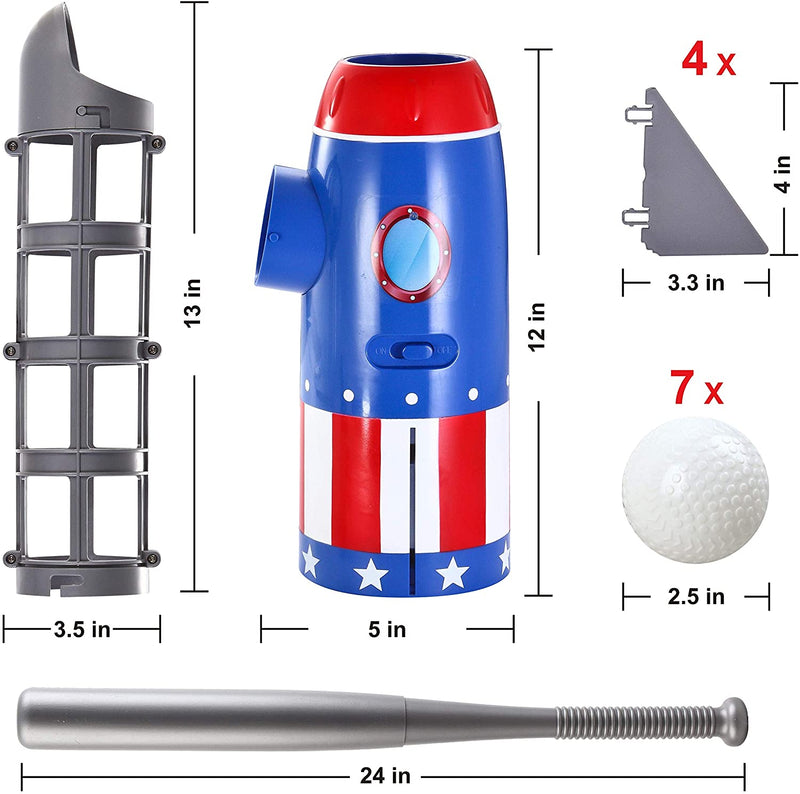 Rocket Automatic Pitcher Baseball Training Toy Set