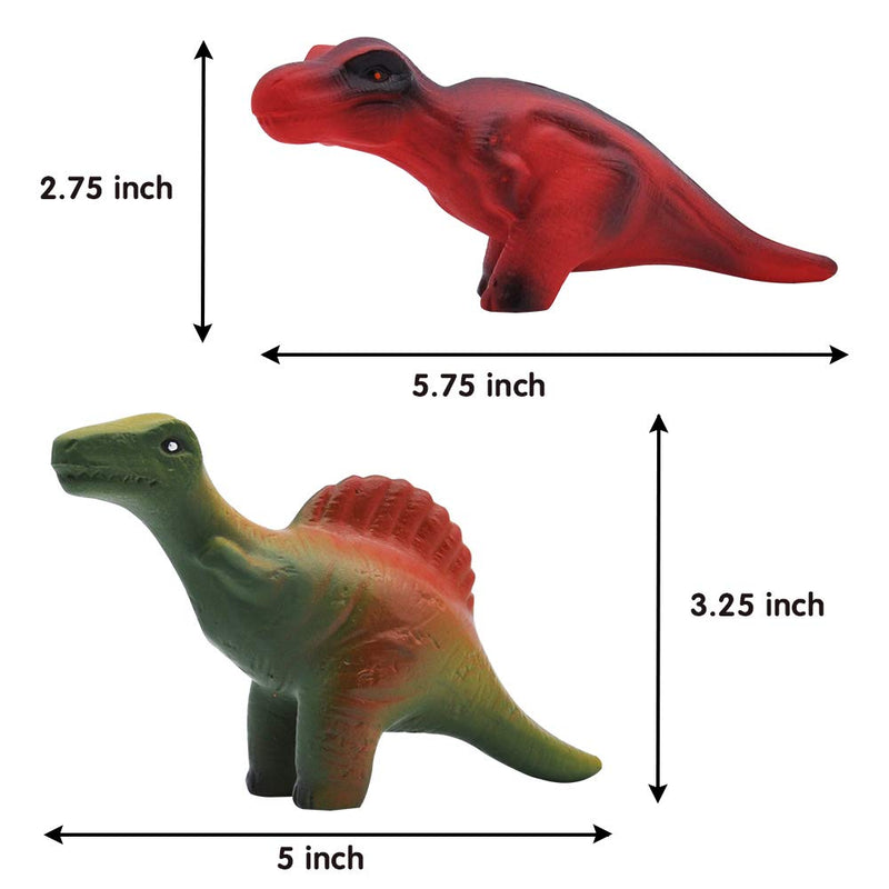 12 Pieces Dinosaur Squishy Toys Set