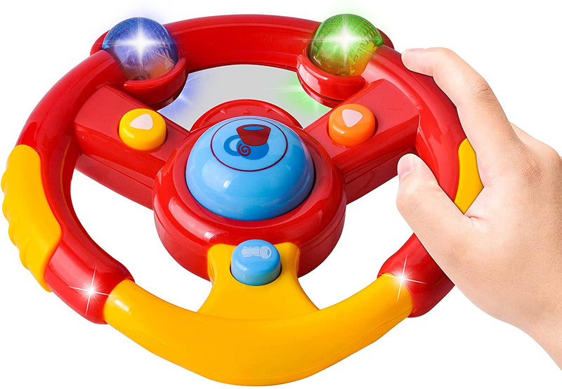 3 Pcs Toddler Driving Steering Wheel Toy