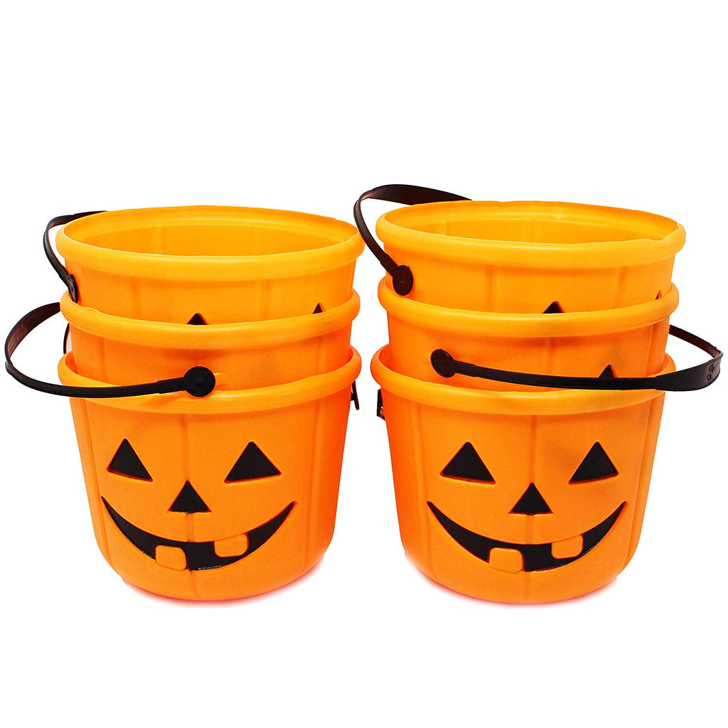 Trick or Treat Pumpkin Buckets, 6-Pack