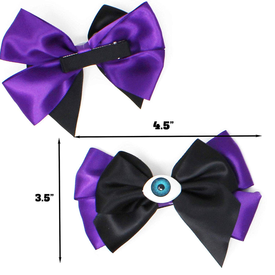 Halloween 6 Designs Hair Bowknot Baby Kids Girls Hairpin Hair Bow Clip Hair Decorations for Party Supplies (12 Pack)