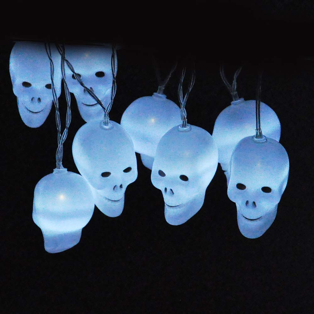 LED White Skull String Light