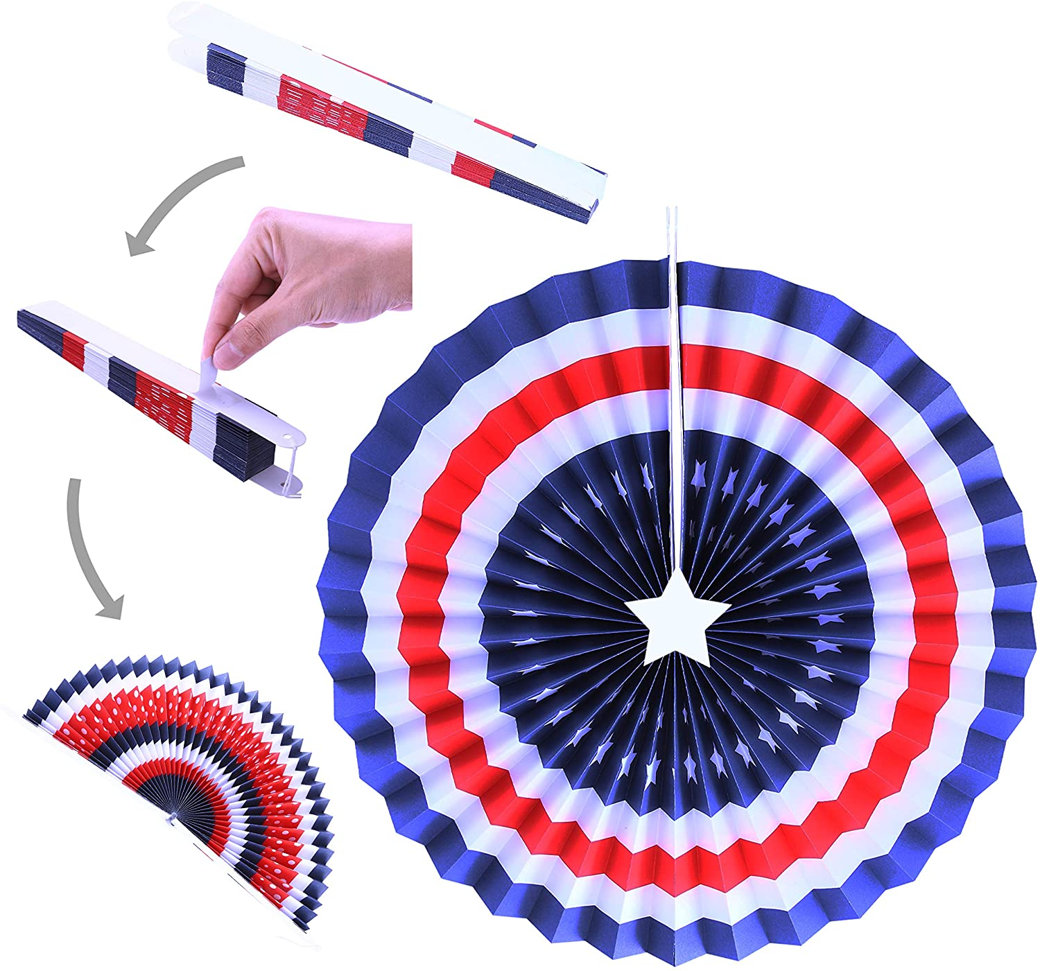 48 Pcs Patriotic Party Supplies