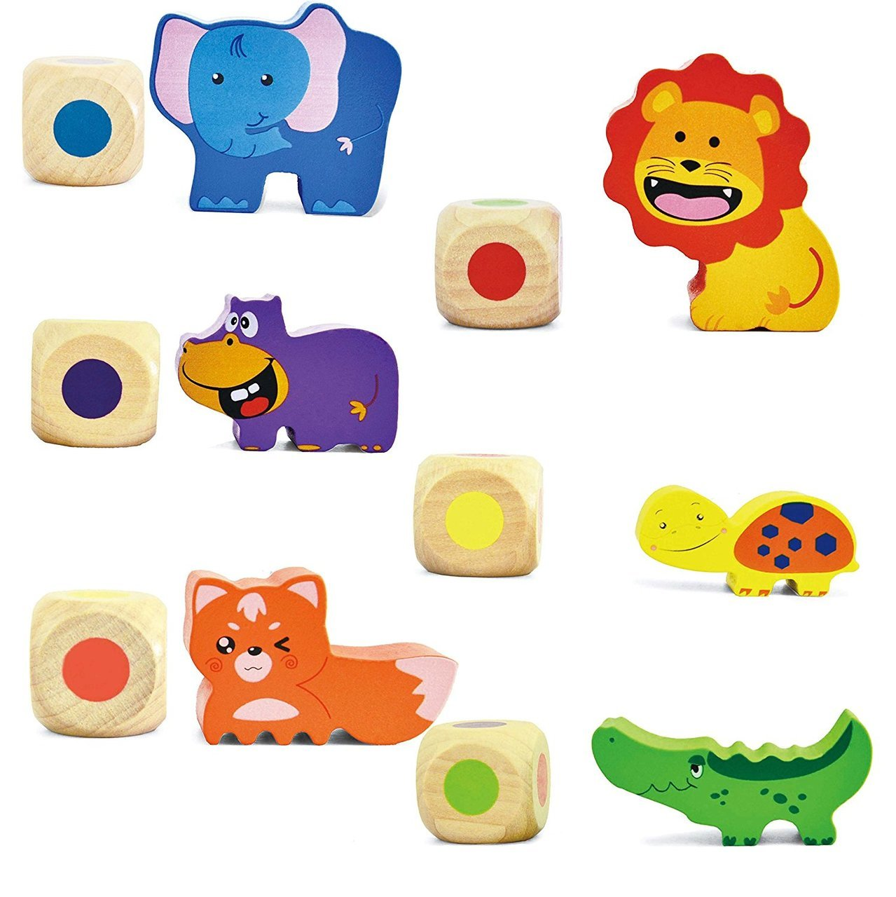 Wooden Balance Game Animal Stacking Blocks