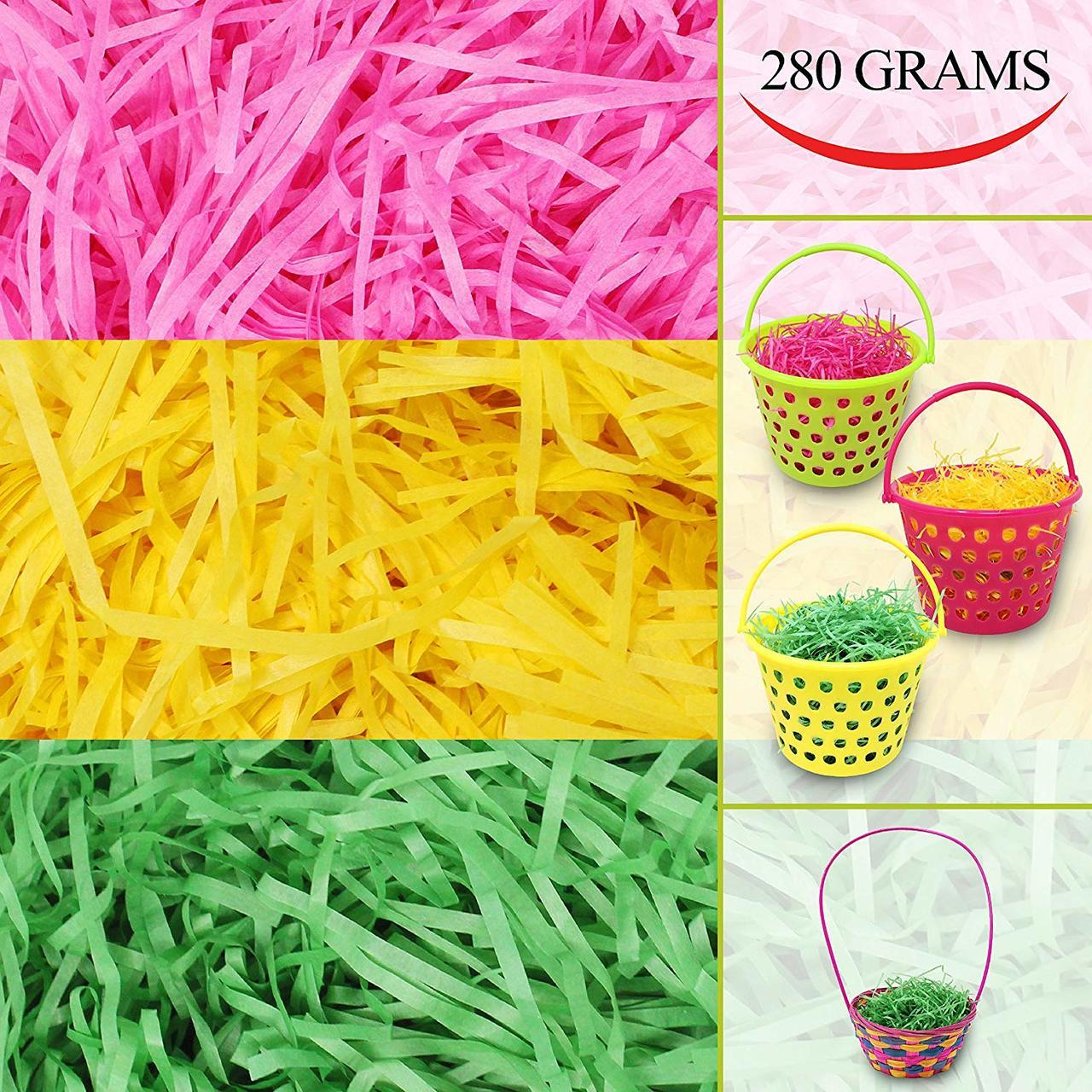 Easter Tri-Color Paper Grass, 10 oz