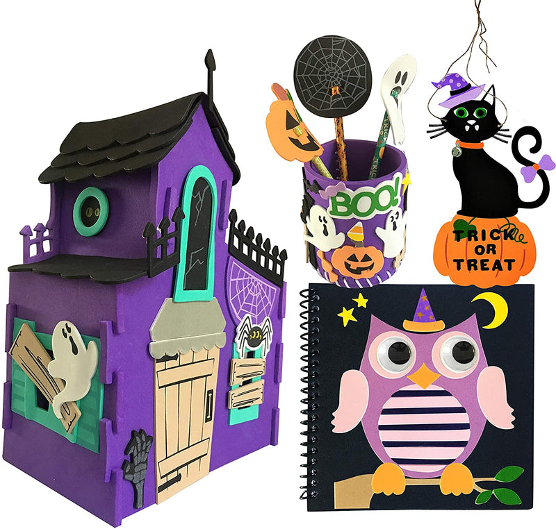Halloween Art and Craft Kit DIY with 3D Haunted House