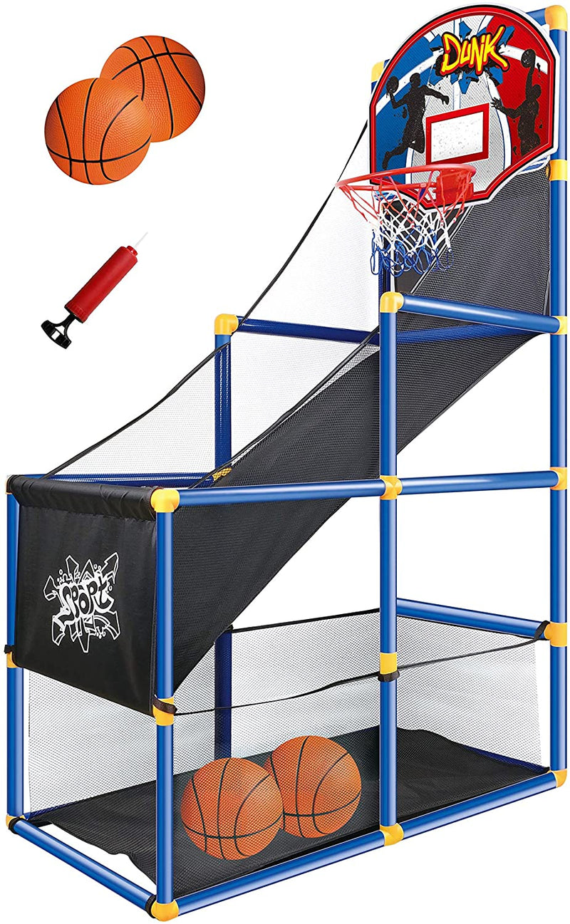 Kids Arcade Basketball Game Set with Hoop