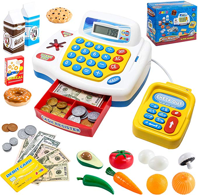 TOY CASH REGISTER SHOPPING PRETEND PLAY MACHINE
