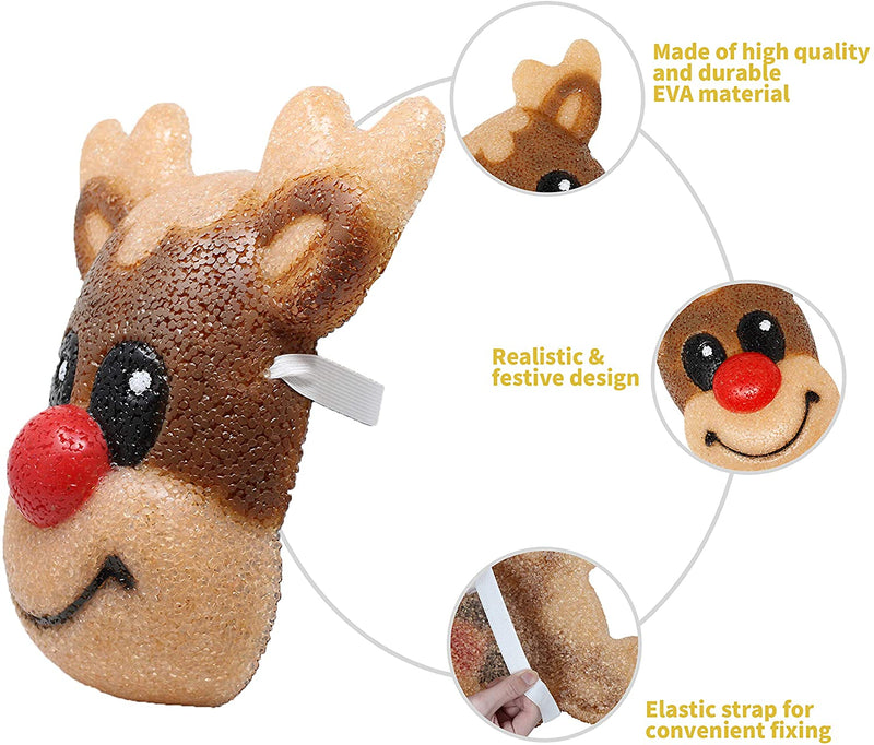 2 Pack Christmas Reindeer Porch Light Cover