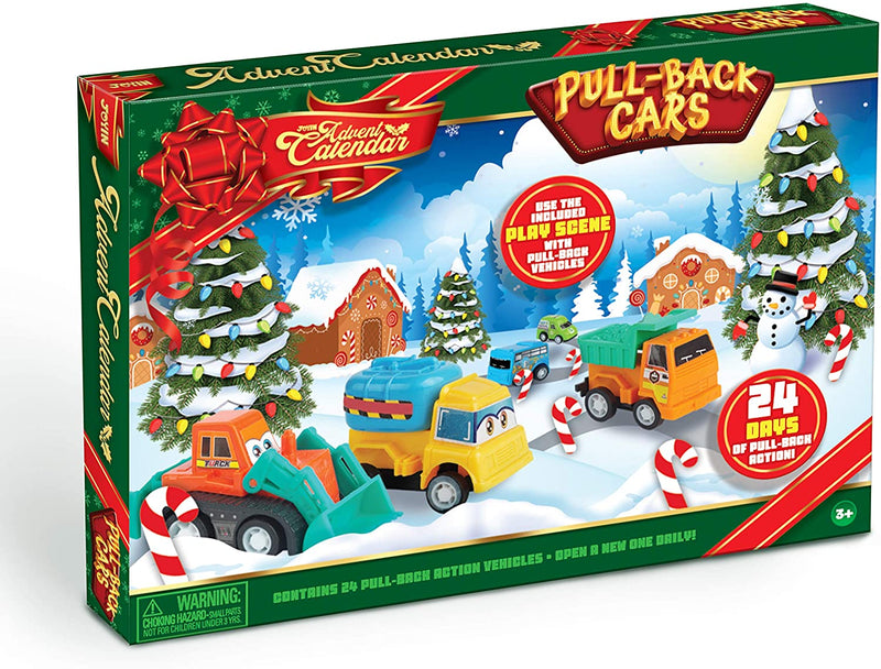 2020 Advent Calendar for Kids with Pull Back Car Toys