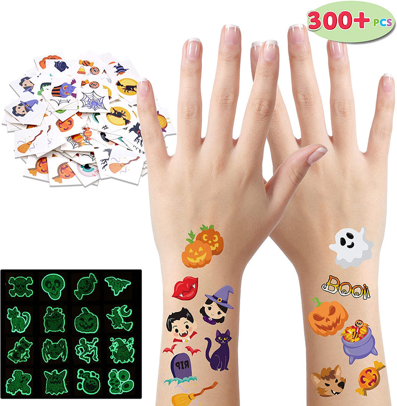 300+ Assorted Halloween Temporary Tattoos