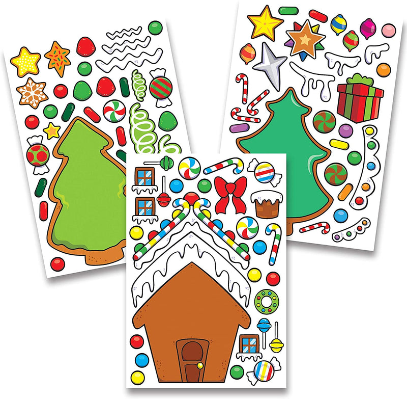 36 PCS Christmas Make-a-face Sticker Sheets