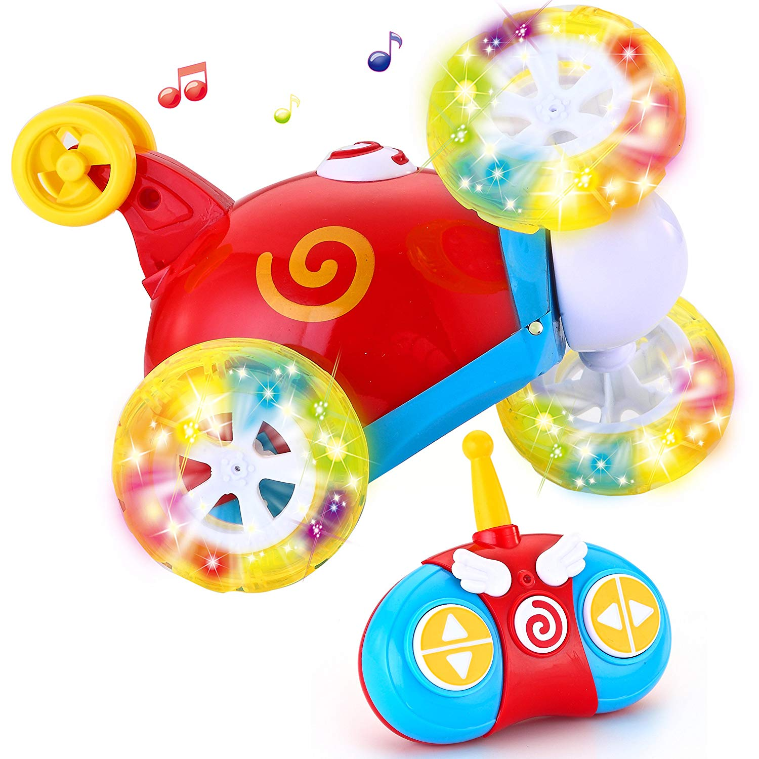 RC Radio Remote Control Cartoon Stunt Race Car for Toddlers