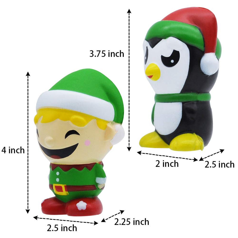 6 Piece Christmas Squishy Toy