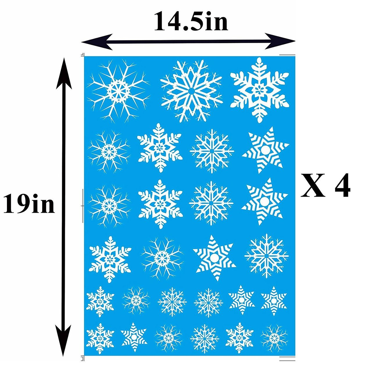 Holiday Snowflakes Window Clings